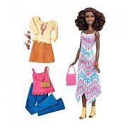 Barbie fashionista babák ruhákkal és kiegészítőkkel - afroamerikai magas baba
