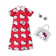 Barbie Hello Kitty ruhák - Piros ruha kiegészítőkkel