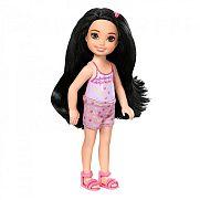Barbie Chelsea babák - fekete hajú szivecskés rövidnadrágban
