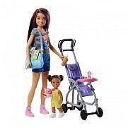 Barbie bébiszitter játékszett - Skipper babakocsival